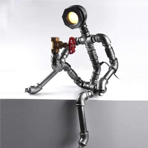 Steampunk Robot Lamp | - Texuh Port. The Business, Brand & Influencer Store. FREE SHIPPING ON ALL ORDERS. Influencer Marketing, Influencer Tools, Business Tools, Business Marketing, Content Creator.