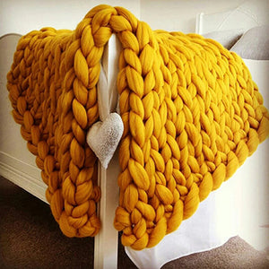 Hand Weaved Crochet Throw Blanket Great for Decor