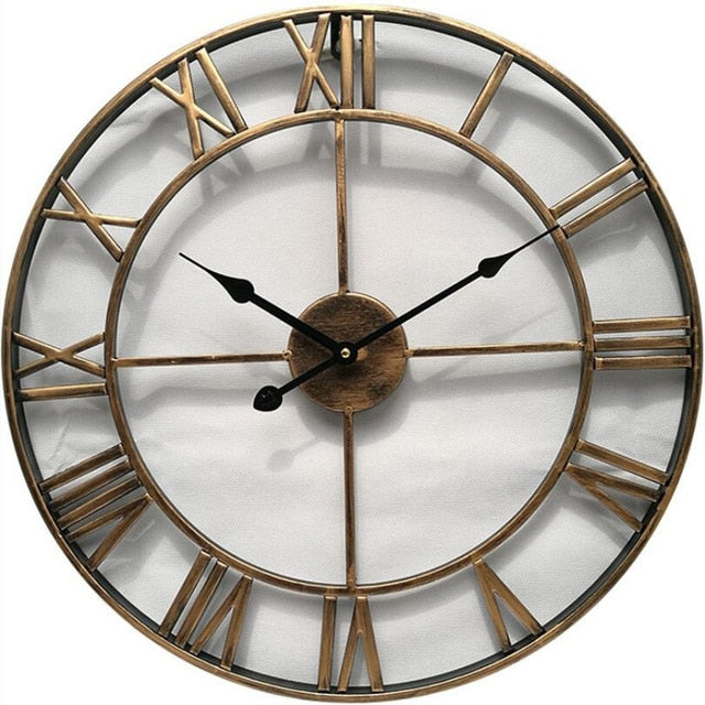 Gold wrought iron vintage wall clock