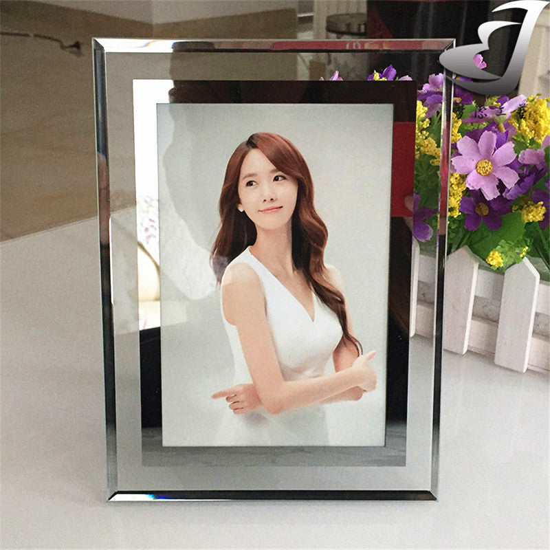 Elegant high-grade thick glass decorative silver photo frame