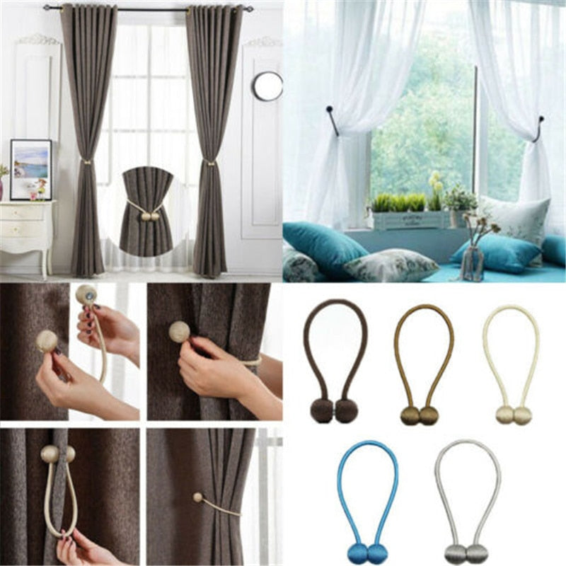 Magnetic Pearl Ball Curtain Tiebacks