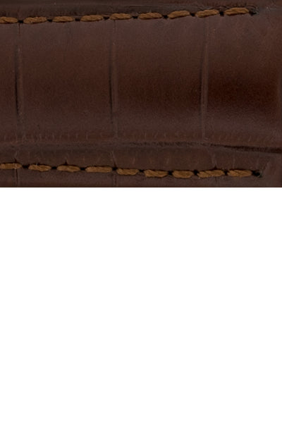 Hirsch BARON Nile Crocodile Leather Watch Strap in BROWN
