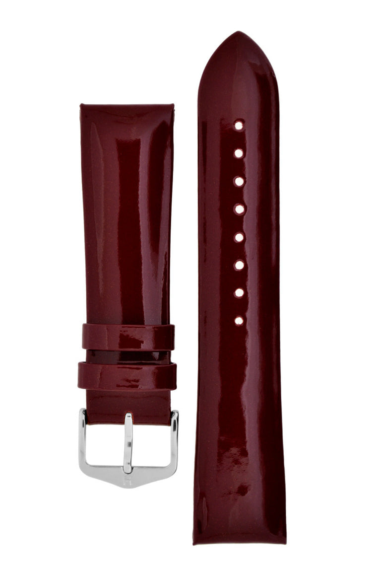 Hirsch DIVA Glossy Ladies Leather Watch Strap in MARSALA