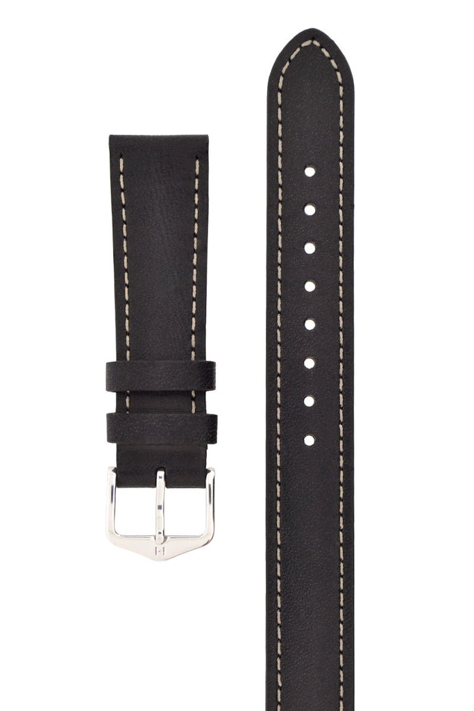 Hirsch GRACE Ladies Wrap Around Leather Watch Strap in BLACK