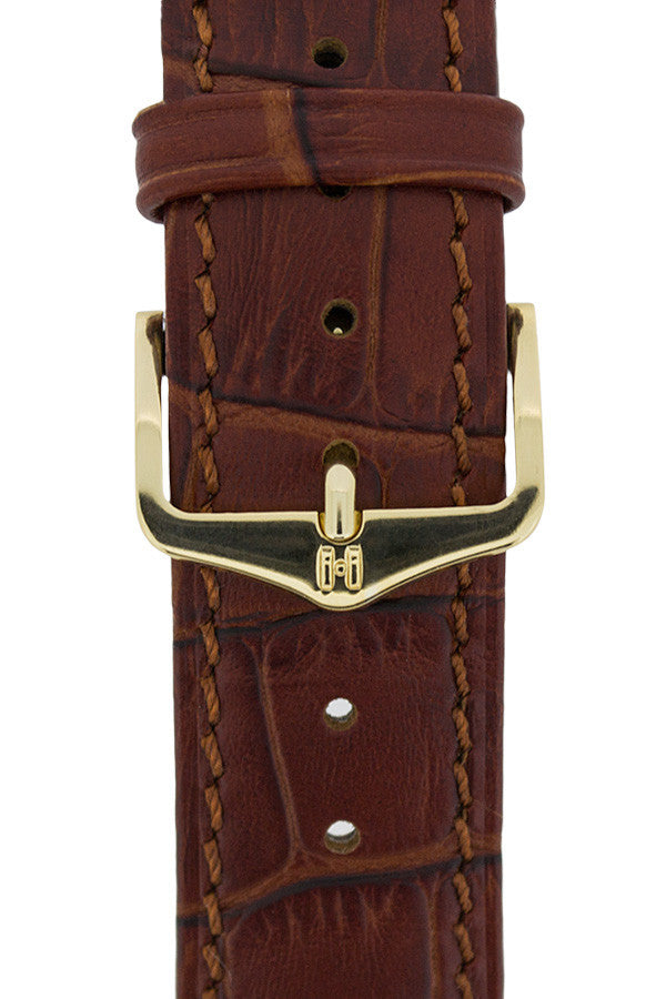 Hirsch HSL gold buckle on strap