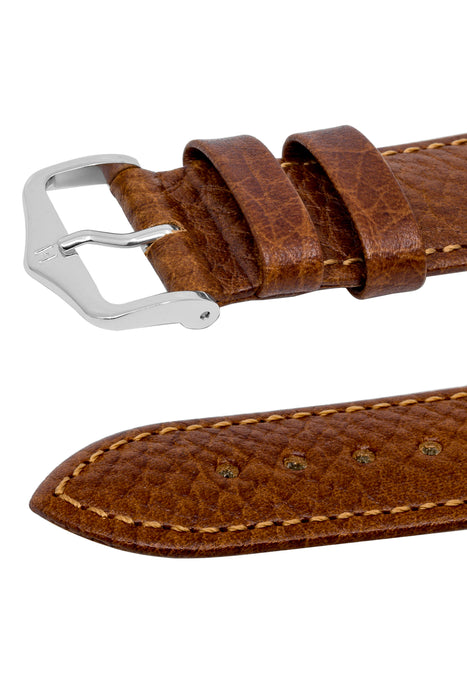 Hirsch FOREST Calf Leather Watch Strap in GOLD BROWN