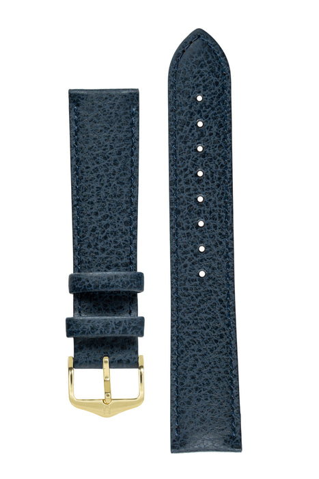 Hirsch KANSAS Buffalo Embossed Calf Leather in BLUE