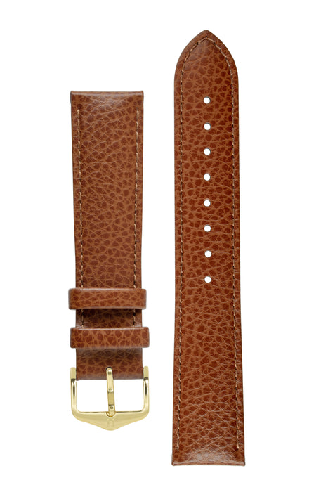 Hirsch KANSAS Buffalo Embossed Calf Leather in GOLD BROWN