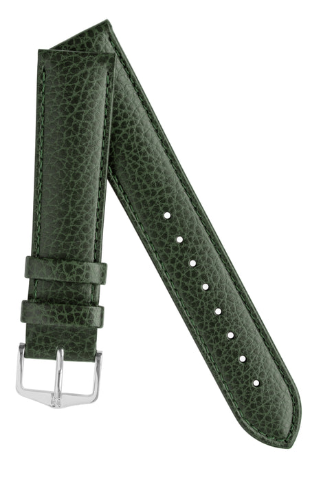 Hirsch KANSAS Buffalo Embossed Calf Leather in GREEN