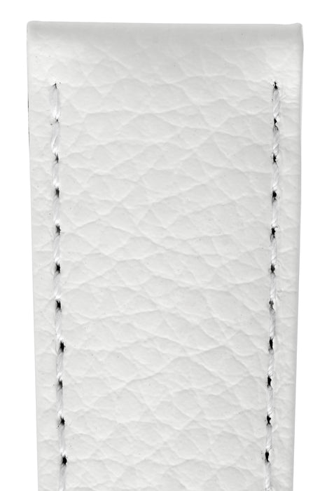 Hirsch KANSAS Buffalo Embossed Calf Leather in WHITE