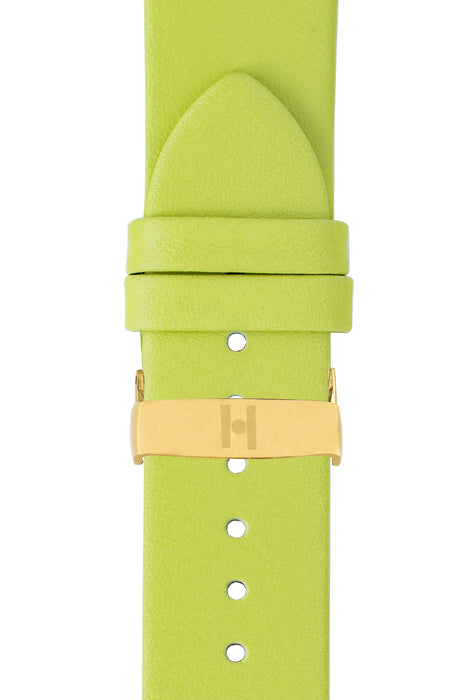 Hirsch VIAZZA Ladies Leather Quick-Release Watch Strap in GREEN