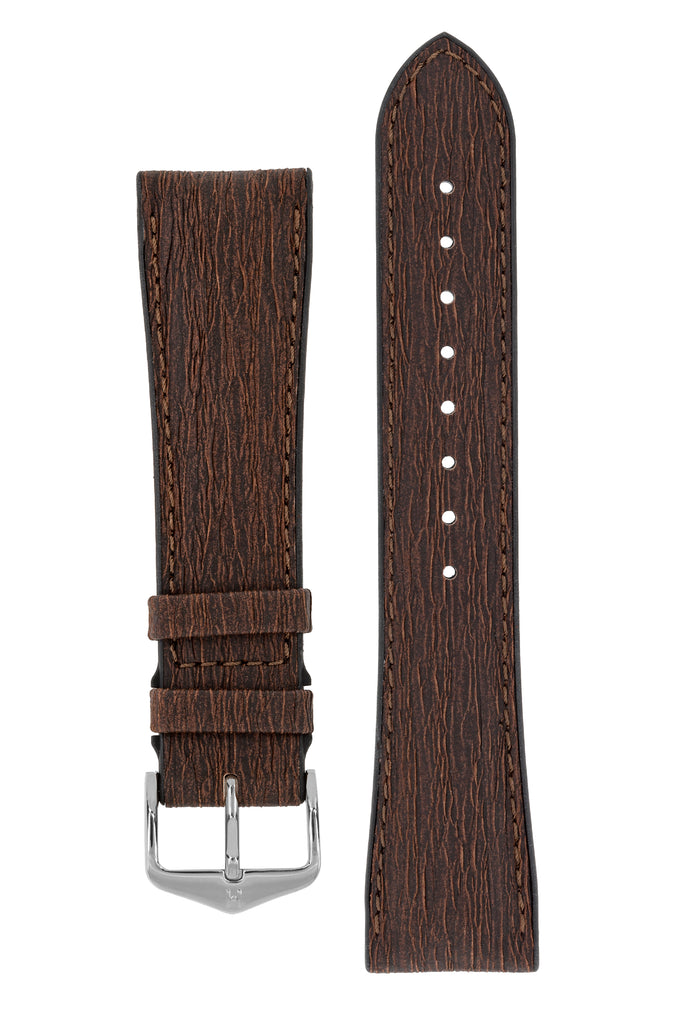Hirsch BARK Limited Edition Eucalyptus Fibre Performance Watch Strap – BROWN