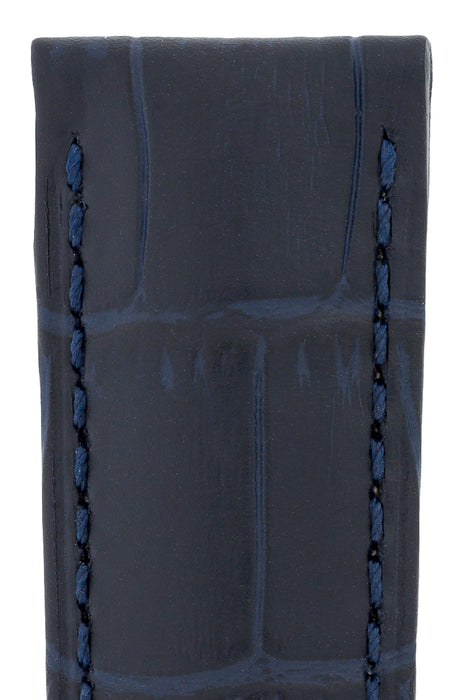 293716a05 Hirsch DUKE Alligator Embossed Leather Watch Strap in BLUE — HS by ...