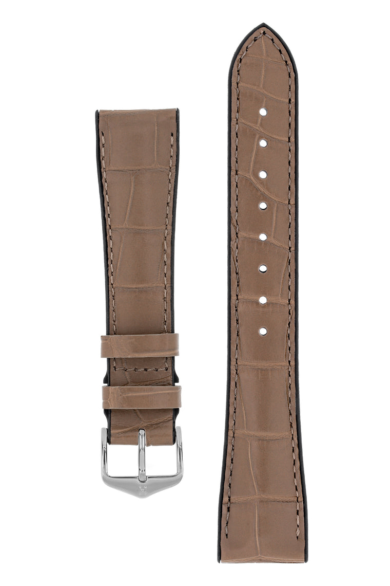 Hirsch IAN Louisiana Alligator Leather Performance Watch Strap – WARM GREY