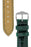 Hirsch LONDON Shiny Alligator Leather Watch Strap in DARK GREEN