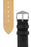 Hirsch MASSAI OSTRICH Leather Watch Strap in BLACK