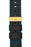 Hirsch ROBBY Sailcloth Effect Performance Watch Strap in BLACK / BLUE