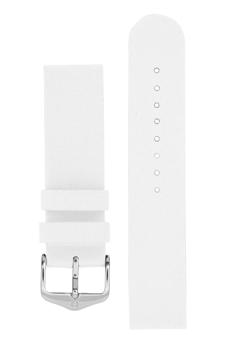 Hirsch SCANDIC Calf Leather Watch Strap in WHITE