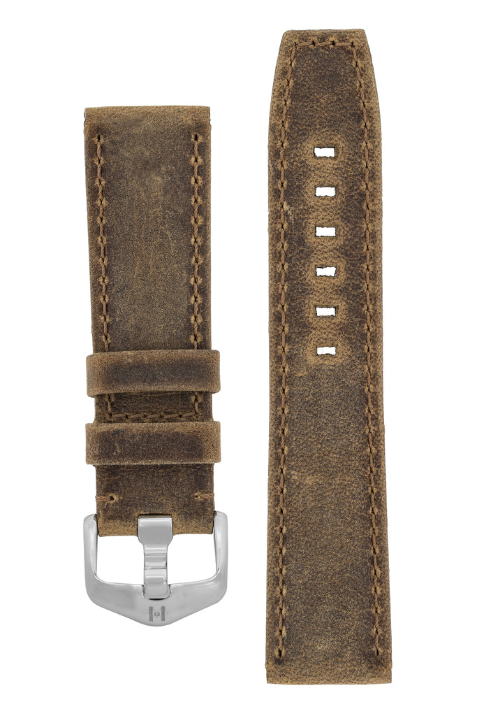 Hirsch TRITONE Kudu Antelope Watch Strap in MUSTARD BROWN