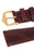 Hirsch GENUINE CROCO Shiny Crocodile Leather Watch Strap in BURGUNDY