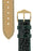 Hirsch GENUINE CROCO Shiny Crocodile Leather Watch Strap in GREEN