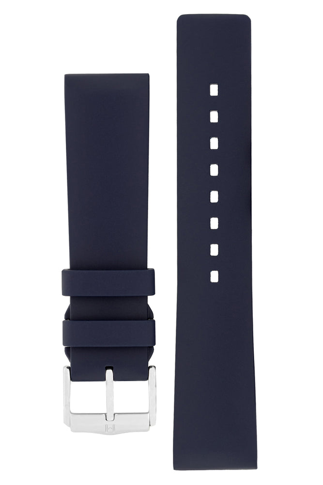 Hirsch PURE Natural Rubber Watch Strap in BLUE