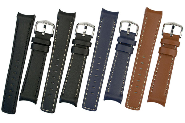 Group of Leonardo Heavy Calf watch strap in a variety of available colours
