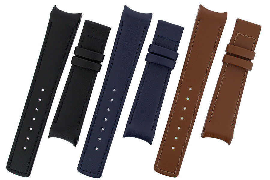 Group of OEM Heavy Calf watch strap in a variety of available colours