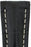 Hirsch NAVIGATOR Alligator Deployment Watch Strap in BLACK