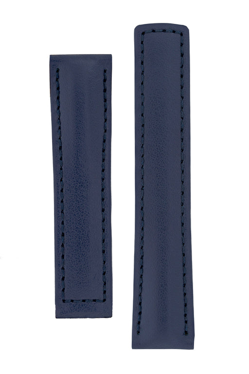 Hirsch SPEED Calfskin Deployment Watch Strap in BLUE