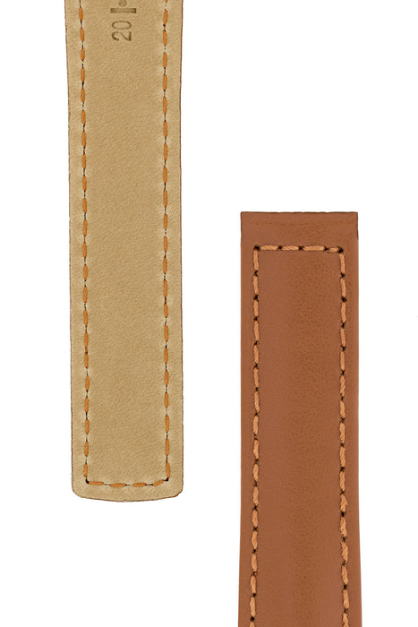 Hirsch SPEED Calfskin Deployment Watch Strap in GOLD BROWN