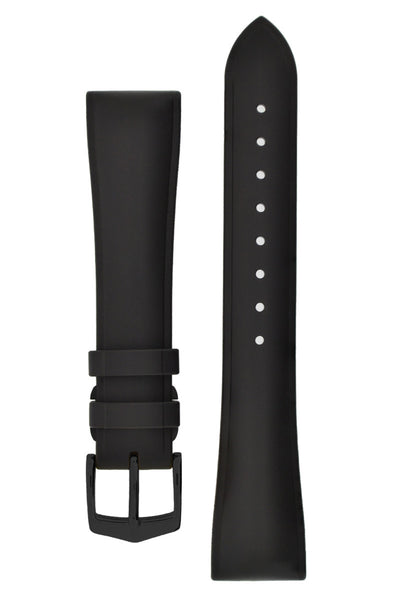 Hirsch URBANE Natural Rubber Watch Strap in BLACK