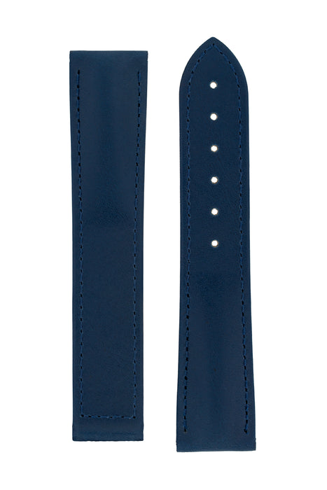 Hirsch VOYAGER Calfskin Deployment Watch Strap in BLUE/BLUE