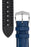 Hirsch GEORGE Alligator Embossed Performance Watch Strap in BLUE