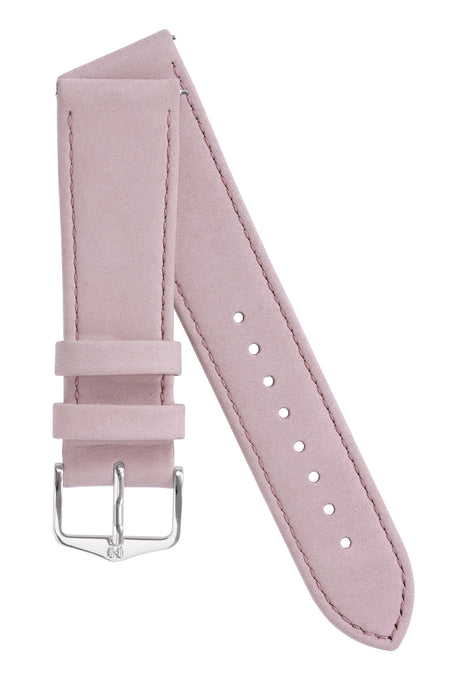 Hirsch OSIRIS Limited Edition Calf Leather with Nubuck Effect Watch Strap in ROSE