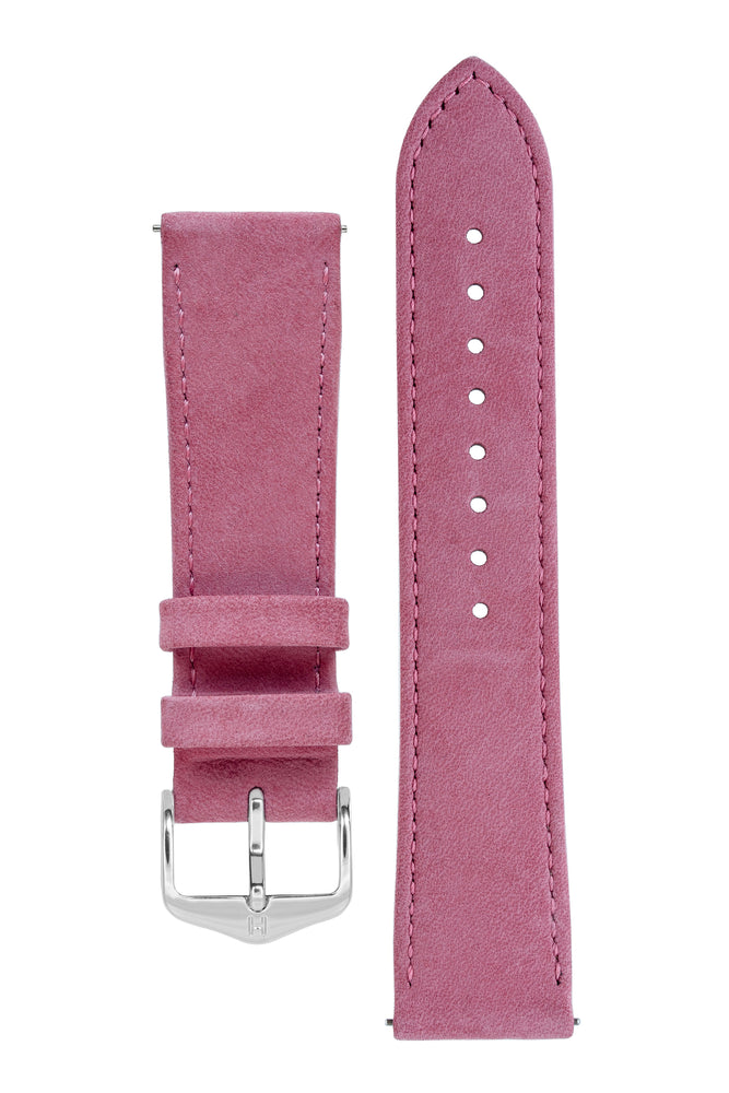 Hirsch OSIRIS Limited Edition Calf Leather with Nubuck Effect Watch Strap in BORDEAUX