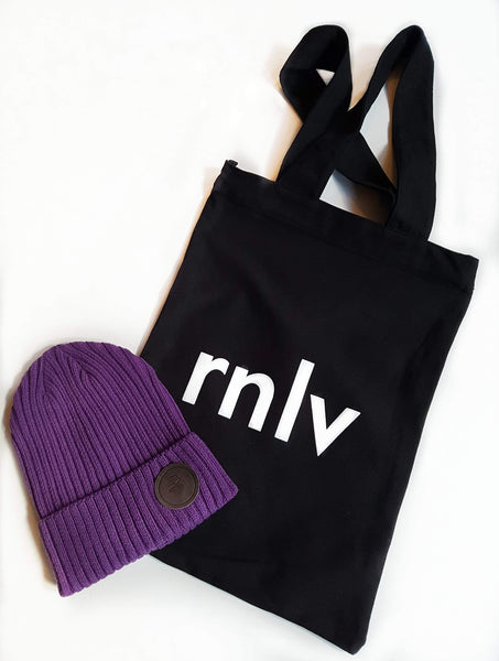 RNLV tote with zipper