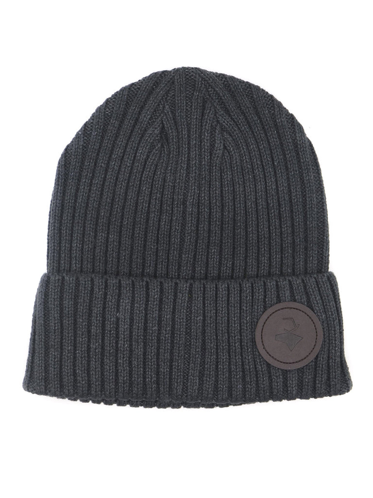 ICON beanie with leather tag