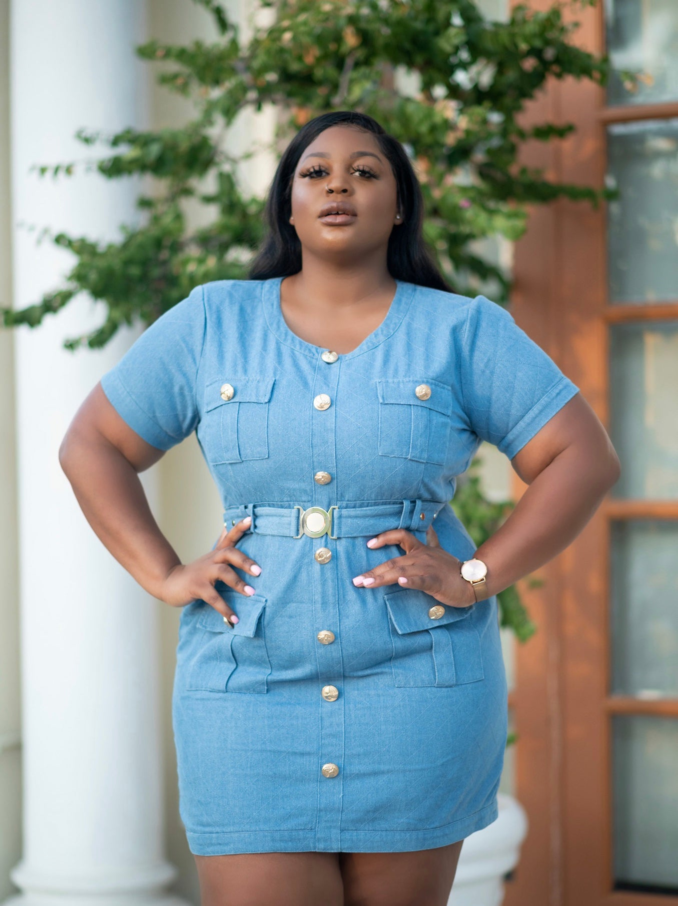 WALKING TROPHY | DENIM DRESS