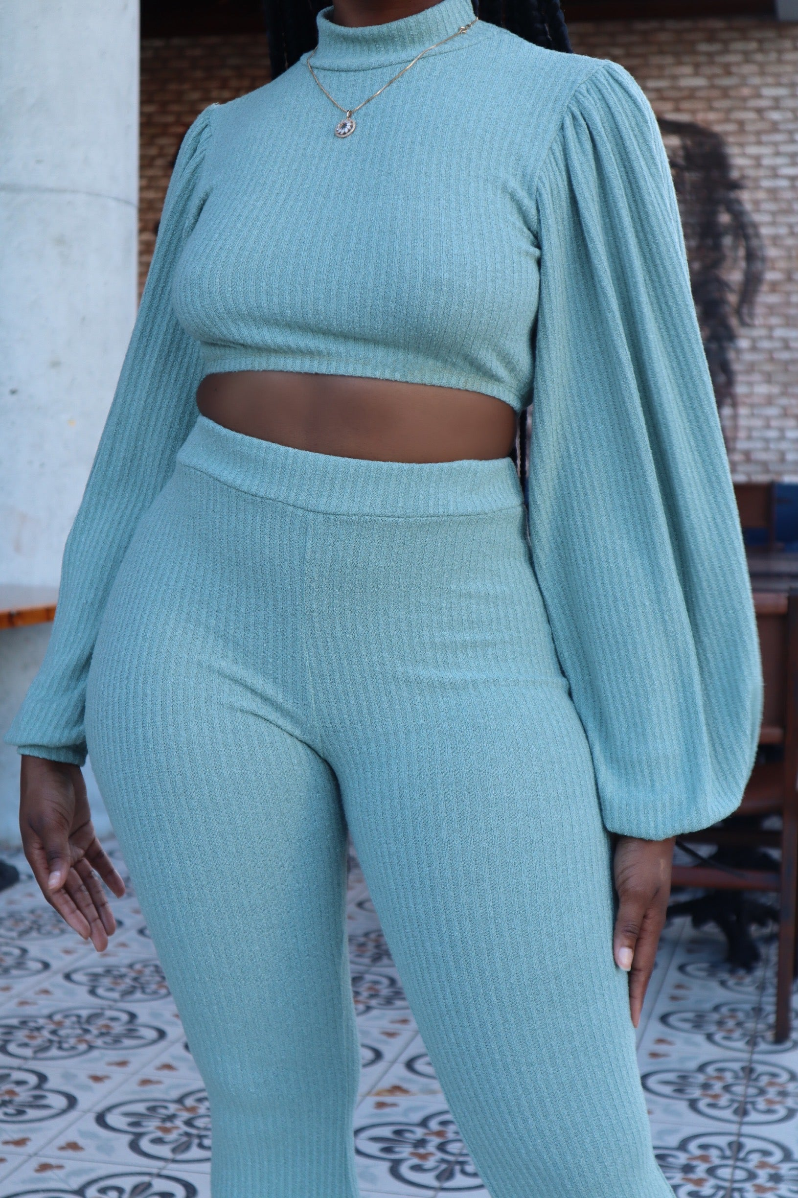 HUMBLE YOURSELF | KNIT PANTS SET