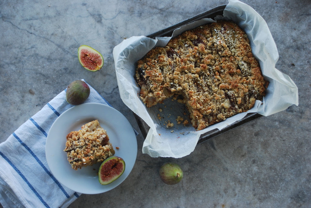 Fig Tray Bake Slice