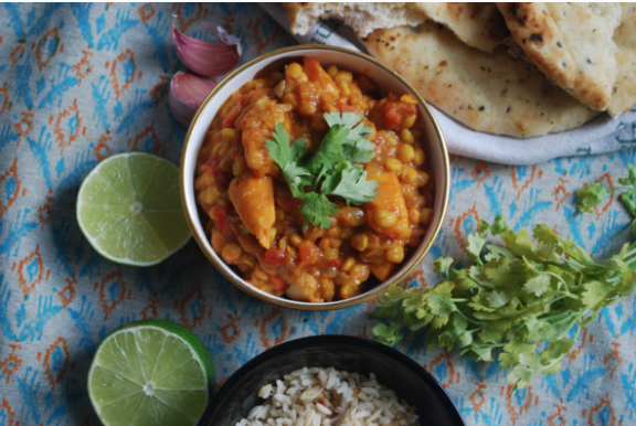 Cold Busting Coconut and Chickpea Curry