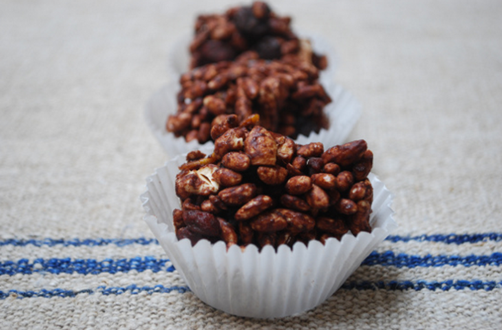 Chocolate rice crispy cakes