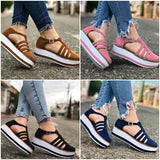 Women's Leather Breathable  Flat Sandals