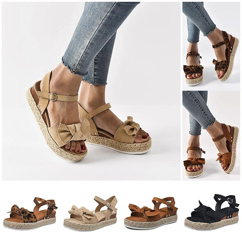 Fashion Bowknot Wedge Comfy Sandals