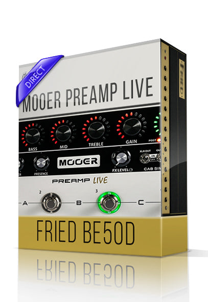 Fried BE50D vol.1 Direct Tone Capture for Mooer Preamp Live