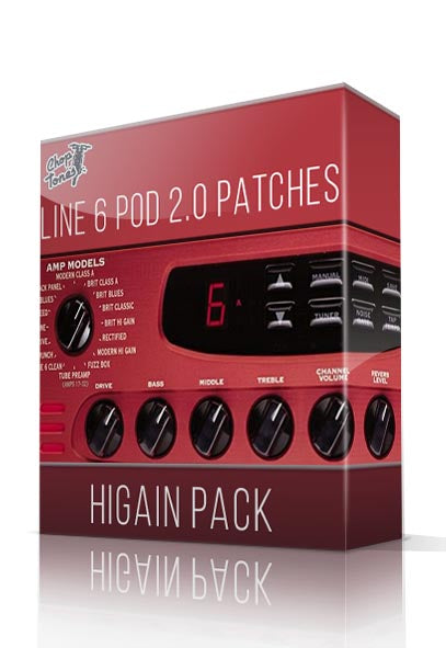 HiGain Pack for Line6 Pod 2.0/Pro - ChopTones