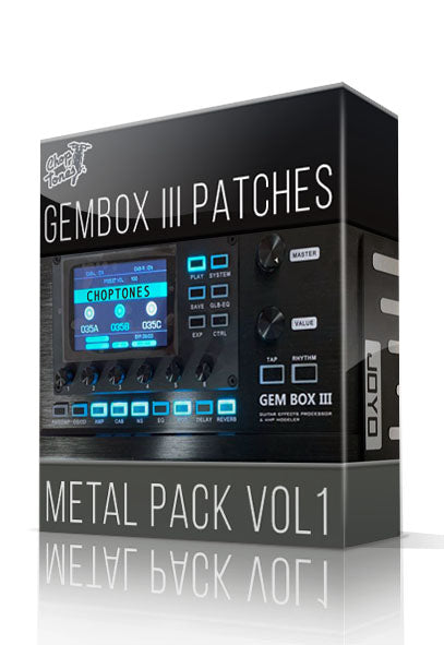 Metal Pack vol.1 for GemBox III - ChopTones