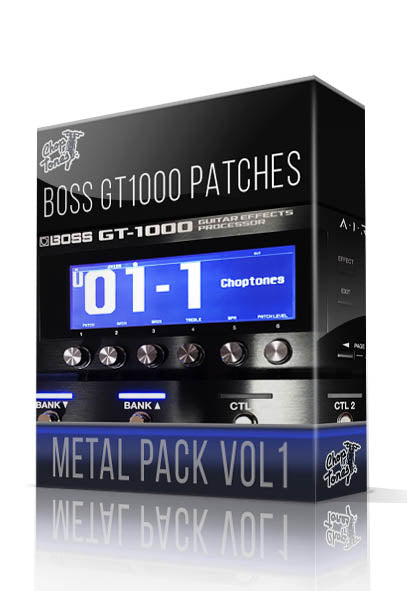 Metal Pack vol.1 for Boss GT-1000 - ChopTones