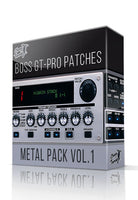 Metal Pack vol.1 for GT-PRO - ChopTones